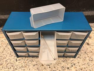 Anaquel Organizador Metálico Visible Con 20 Cajitas