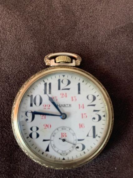 Reloj De Bolsillo Haste De Tipo Ferrocarrilero