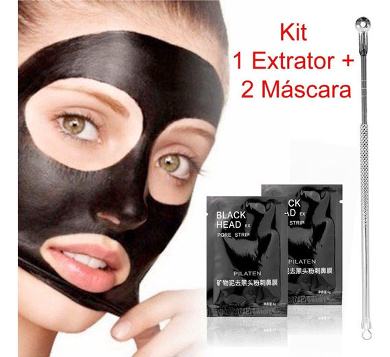 Máscara Extrator Black Head Pilaten Facial Pele Cravos Preta