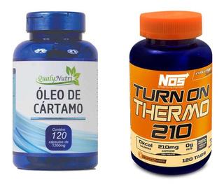 Termo Turn 210mg 120tabs + Oleo De Cartamo 1450mg 120tabs