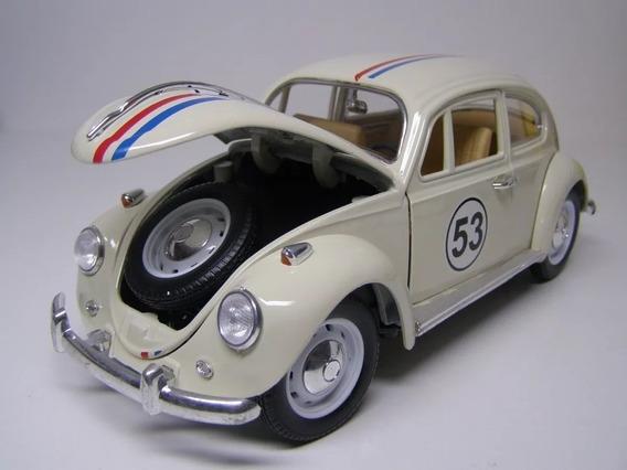 Miniatura Herbie O Fusca Escala 1/18 De Metal