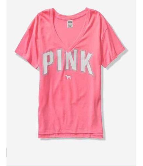 Victorias Secret Pink Remeras Mujer 5431
