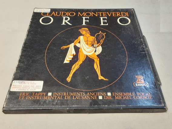 Orfeo, Claudio Monteverdi - 3 Lp Box Set Made In France Mint
