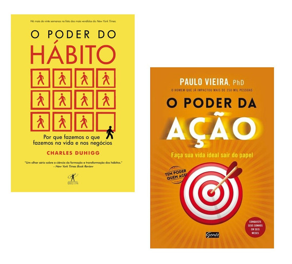 Kit Livros - O Poder Do Hábito + O Poder Da Ação !