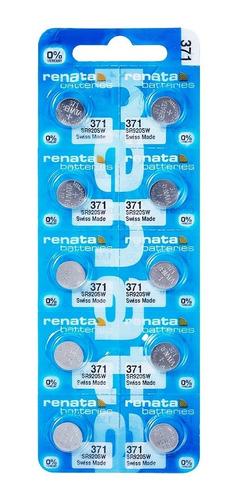 Imagem 1 de 8 de 10 Pilhas Baterias 371, Relógio 1.55v Renata Sr920s Original