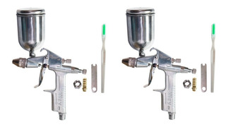 2 Pistolas Gravidade Para Pintura Automotiva 200ml 50psi