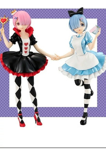 Figuras Rem Y Ram Ver. Wonderland Anime Re:zero