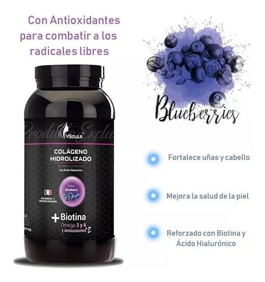 Colágeno Mas Biotina Polvo 600grs Vsouls ® Envió Inmediato!