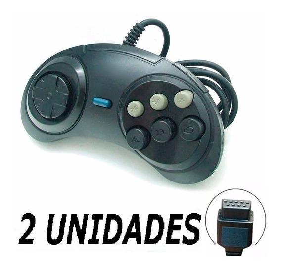 2x Controle Joystick Manete Sega Mega Drive Master System