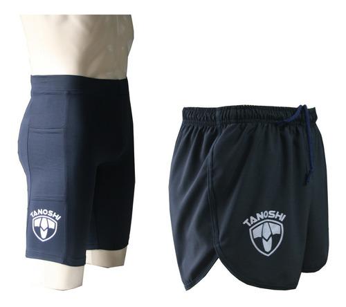 Kit Bermuda E Shorts Corrida Masculina Com Bolsos