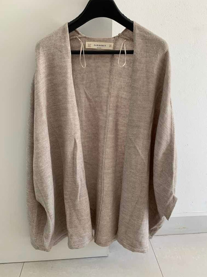 Zara Sweater Tipo Poncho Divino Finito T M