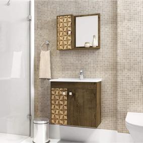 Gabinete Para Banheiro Com Cuba E Espelho Munique Fd
