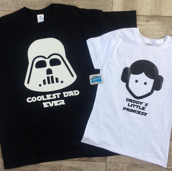 Playeras Darth Vader Y Princesa Leia Padre E Hija