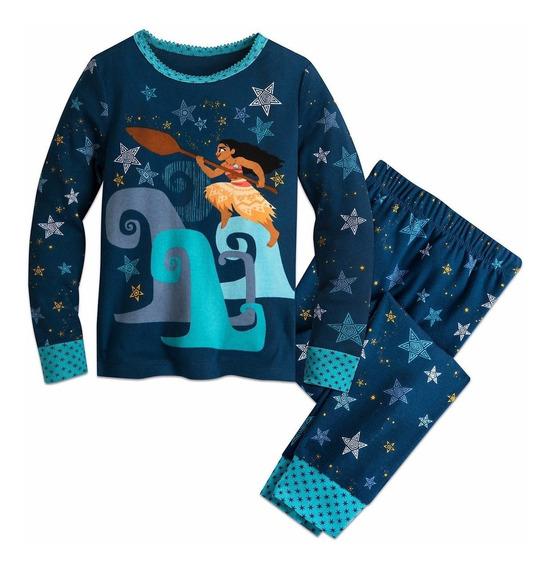 Moana Pijama Azul Disney Store Disfraz Moana Varias Tallas