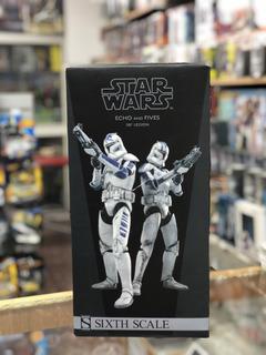 Figuras Star Wars Clone Troopers Echo & Fives Autografiada