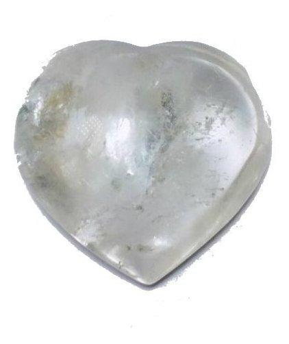 Cristal - Coração De Cristal Branco Lapidado Pedra Natural!