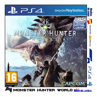 Monster Hunter World Ps4 Digital | Cupo Secundario