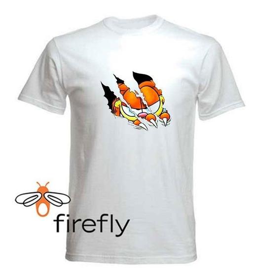 Remera Garfield Hombre Blanco Coleccion 3 Firefly