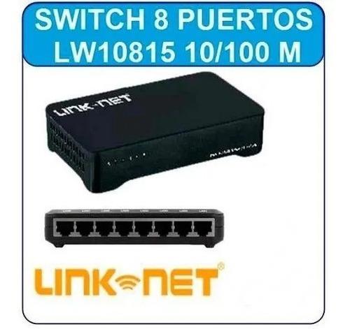 Imagen 1 de 1 de Switch 8 Puertos Link-net 10/100, Lw-10815