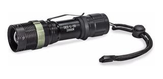 Lanterna Tática Led 20000w Policial Recarregável C/ Zoom