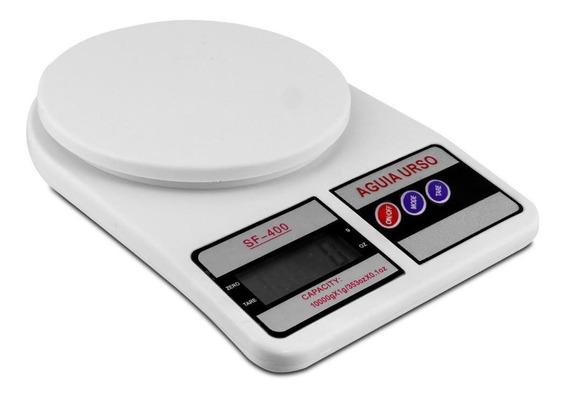 Balança Digital Cozinha 10kg Branca Alimentos Alta Precisão