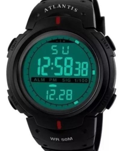 Relógio Digital  Sport Atlantis Militar Shock Prova D'água!