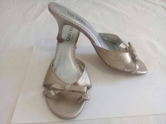 Sandalias Via Uno Cuero Talle 36 Zapatos