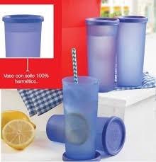 Tupperware Vasos Violeta Traslúcido X 6 U