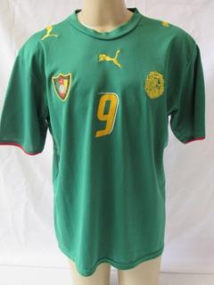 Camisa De Futebol Da Seleção De Camarões #9 Samuel Eto