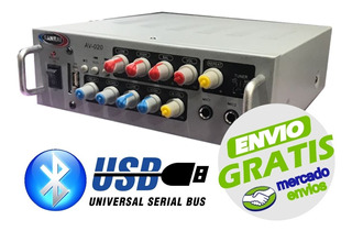 Amplificador Consola Potenciada Sanrai Av020 Usb Bluetooth