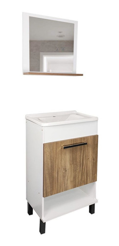 Imagen 1 de 6 de Mueble De Baño + Bacha Con Espejo Armado Incluido