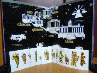 Figuritas Caballeros Del Zodiaco 12 Armaduras Dorada + Album