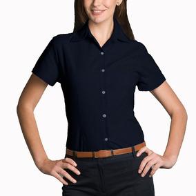 Camisa Gabardina Manga Corta Para Mujer Oficina Yazbek