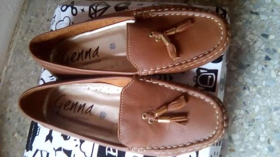 Zapatos De Cuero Tipo Mocacin