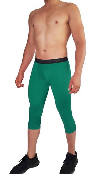 Licra Mallas Para Hombre Leggings 3/4 Varios Colores Playfit