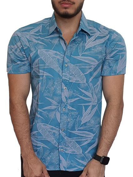 Camisa Social Floral Slim Fit