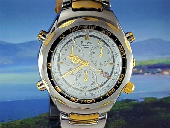 Relógio Bulova Dw-v303 Cronometro, Taquímetro, Minuto, Data
