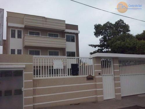 Ótimo Apartamento Com 2 Dormitórios À Venda, 65 M² Por R$ 155.000 - Enseada Das Gaivotas - Rio Das Ostras/rj - Ap0097