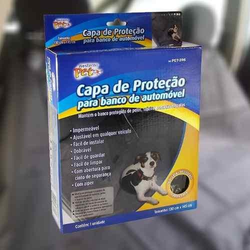 Banco Capa Protetora Cachorro Branco Carro Impermeável Pet