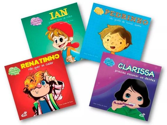 Coleção Aprendendo Hábitos De Higiene 4 Cartilhas Infantis