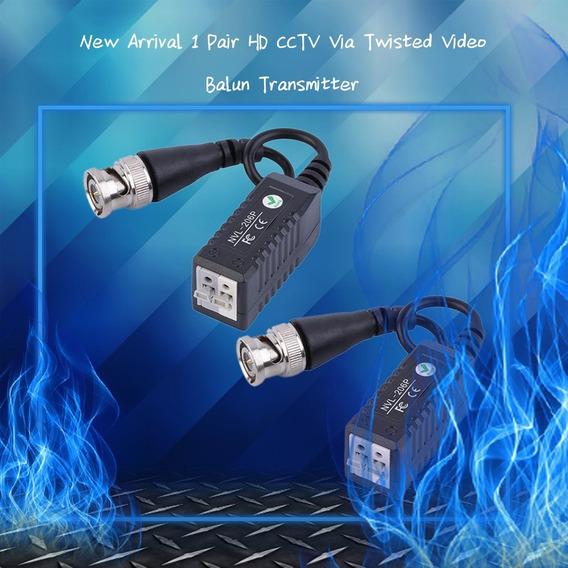 1 Par Hd Cctv Transmissor Balun Vídeo Retorcido 0-300 Metros