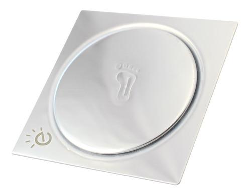Ralo Inteligente Banheiro Inox Click Up Quadrado 15x15