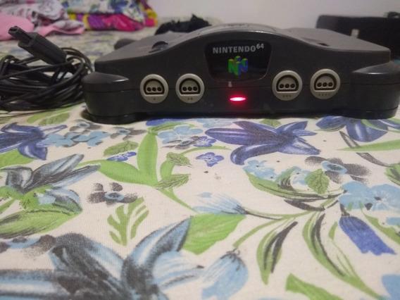 Nintendo 64 Com 2 Controle Fonte E Cabo Av