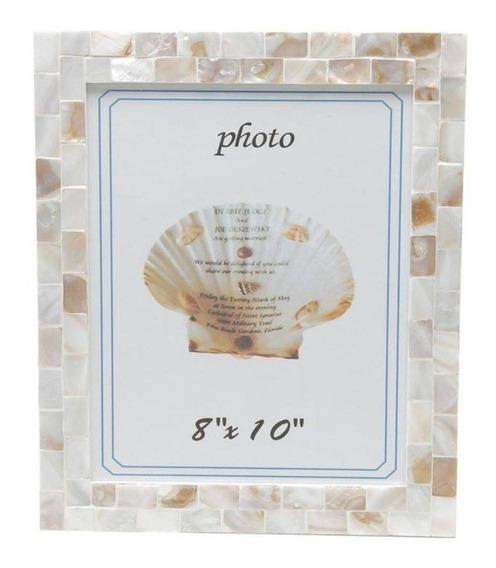 Porta Retrato De Madeira Com Madrepérola 13cmx18cm Ga