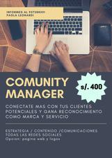 Comunity Manager / Redes Sociales Y Ventas