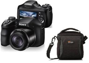 Camera Sony Cyber-shot Dsc-h200 Com Case Lowepro Format 120