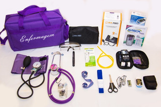 Kit De Enfermagem Completo Várias Cores Com Esfigmo E Esteto