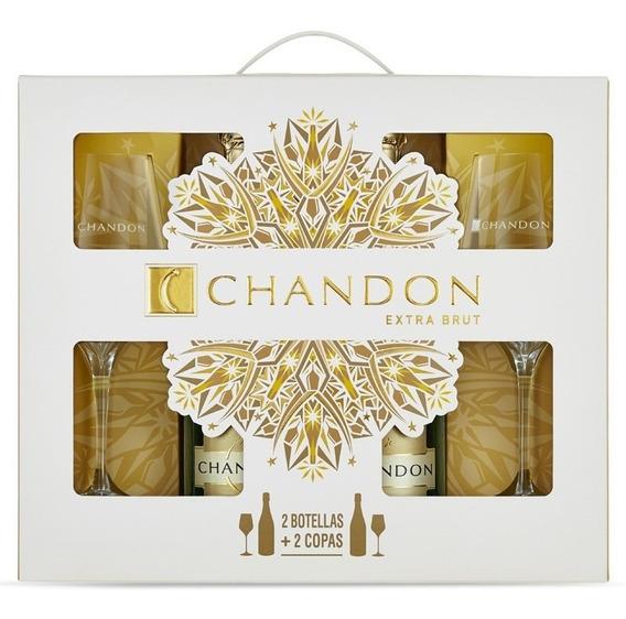 Chandon X 2 Con 2 Copas Ideal Para Regalo Dia De La Madre!!