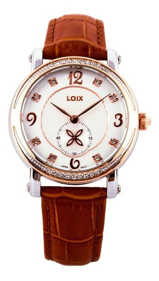 Reloj Loix Mujer De Lujo En Cuero