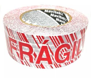 Cinta Adhesiva Empaque Frágil 48x150 Super Fijación Visible